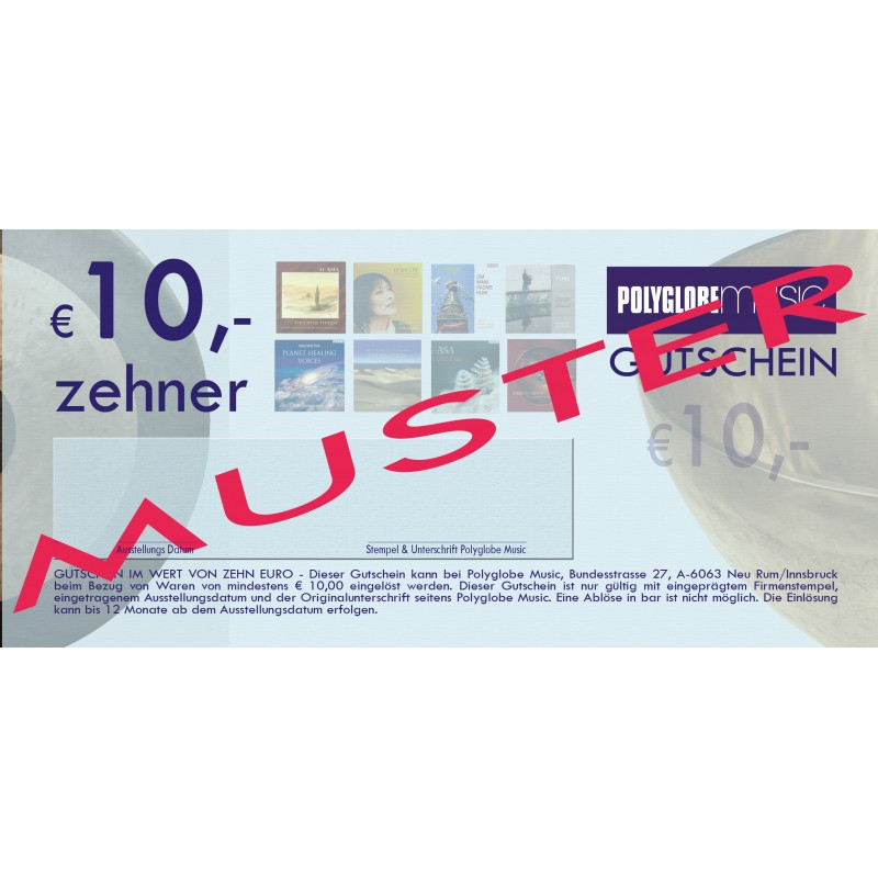 10€ POLYGOBE GESCHENKS-GUTSCHEINE