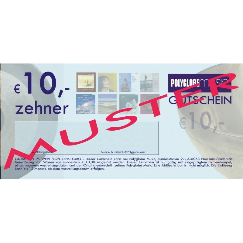 10€ POLYGOBE GESCHENKS-GUTSCHEIN