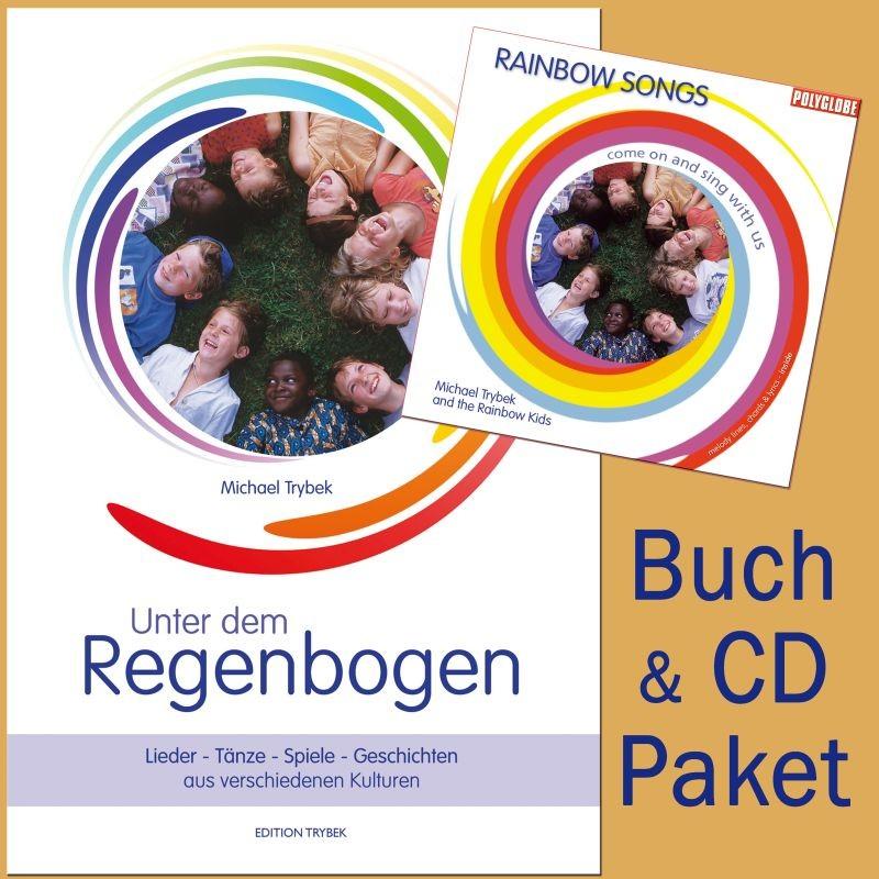 "TRYBEK MICHAEL - Rainbow Songs Package - CD Rainbow Songs & Buch ""Unter dem Regenbogen"""
