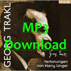 UNGER HARRY/TRAKL GEORG - vertonte Gedichte - MP3